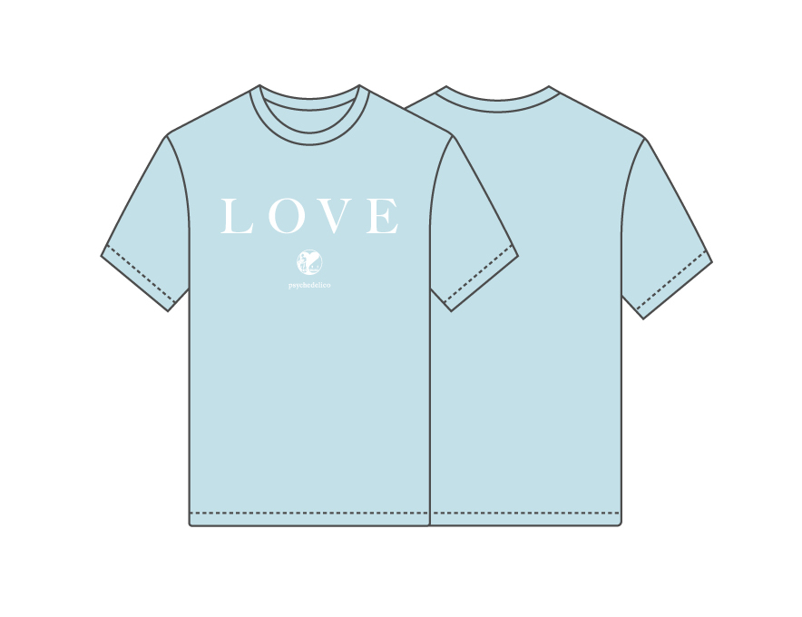 "LOVE PSYCHEDELICO Premium Acoustic Live""TWO OF US""Tour 2019 Tシャツ(ライトブルー)"