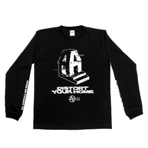 AA= DISTORT YOUR HOME LONG SLEEVE TEE